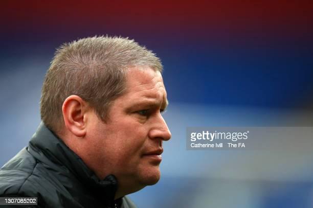 Matt Beard caretaker manager of Bristol City ahead the FA Women's Continental Tyres League Cup Final match between Bristol City Women and Chelsea...