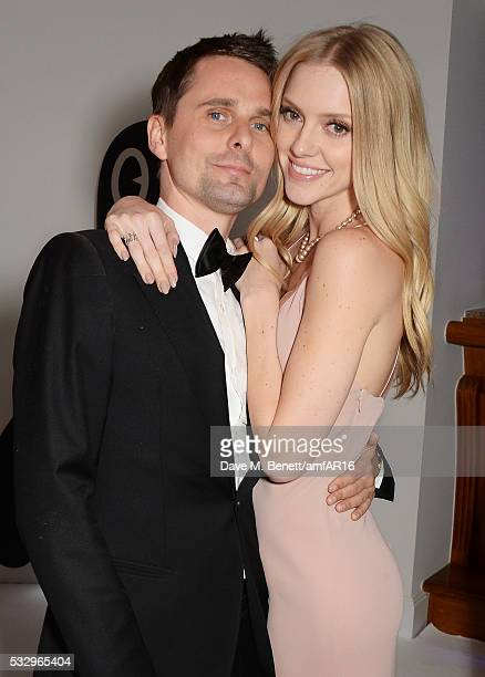 Matt Bellamy and Elle Evans attend the after party for amfAR's 23rd Cinema Against AIDS Gala at Hotel du CapEdenRoc on May 19 2016 in Cap d'Antibes...