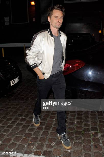 Matt Bellamy arriving at the Chiltern Firehouse on August 19 2017 in London England