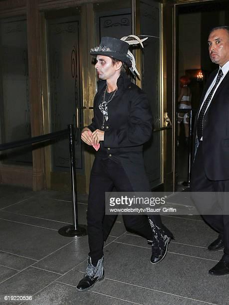 Matt Bellamy is seen on October 29 2016 in Los Angeles California