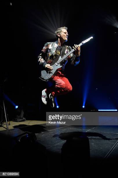 Matt Bellamy of Muse performs at Northwell Health at Jones Beach Theater on July 22 2017 in Wantagh New York