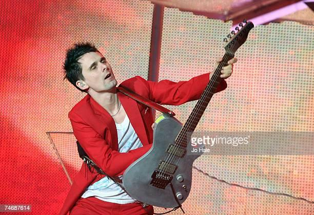 Matt Bellamy of Muse performs at Wembley Stadium on June 16, 2007 in London, England.