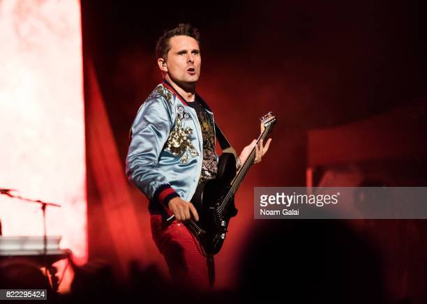 Matt Bellamy of Muse performs in concert at Central Park SummerStage on July 24 2017 in New York City