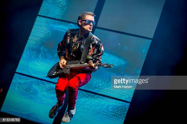 Matt Bellamy of Muse performs on Day 9 of the RBC Bluesfest on July 15 2017 in Ottawa Canada