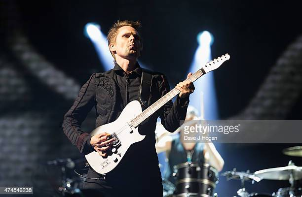 Matt Bellamy of Muse performs on stage during day one of BBC Radio 1's Big Weekend at Earlham Park on May 23, 2015 in Norwich, England.