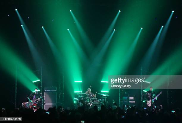 Matt Bellamy of Muse performs onstage at Citi Sound Vault Presents Muse at Hollywood Palladium on February 09, 2019 in Los Angeles, California.