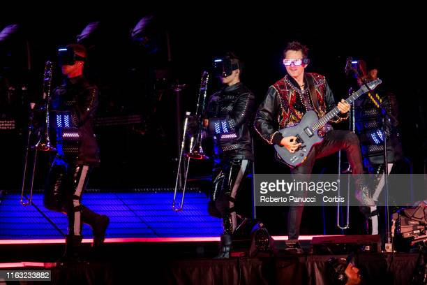 Matt Bellamy of Muse performs onstage at Olimpico Stadium on July 20, 2019 in Rome, Italy.