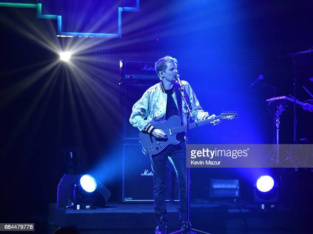 Matt Bellamy of Muse performs onstage during The CW Network's 2017 Upfront at New York City Center on May 18 2017 in New York City
