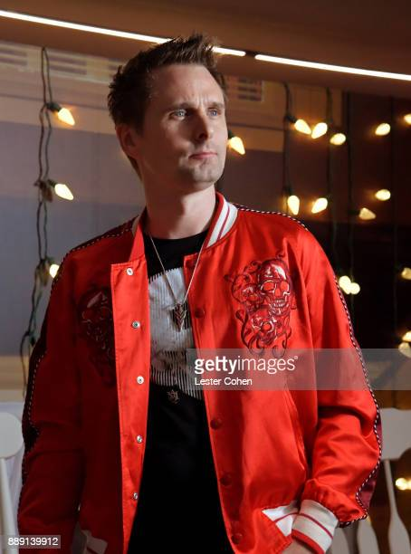 Matt Bellamy of Muse poses backstage during KROQ Almost Acoustic Christmas 2017 at The Forum on December 9, 2017 in Inglewood, California.