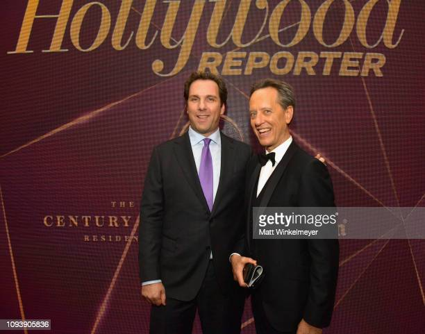 Matt Belloni Editorial Director at The Hollywood Reporter and Richard E Grant attend The Hollywood Reporter's 7th Annual Nominees Night presented by...