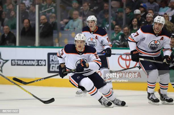 Matt Benning of the Edmonton Oilers in the second period at American Airlines Center on November 18 2017 in Dallas Texas