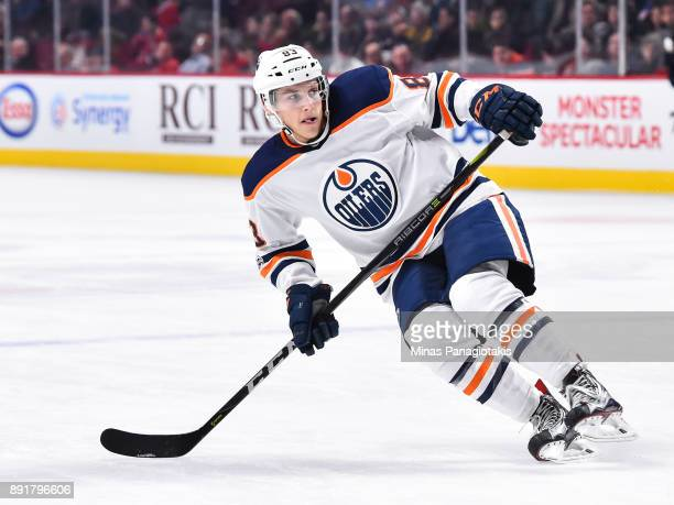 Matt Benning of the Edmonton Oilers skates against the Montreal Canadiens during the NHL game at the Bell Centre on December 9 2017 in Montreal...