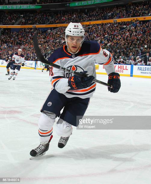 Matt Benning of the Edmonton Oilers skates during an NHL game against the Buffalo Sabres on November 24 2017 at KeyBank Center in Buffalo New York