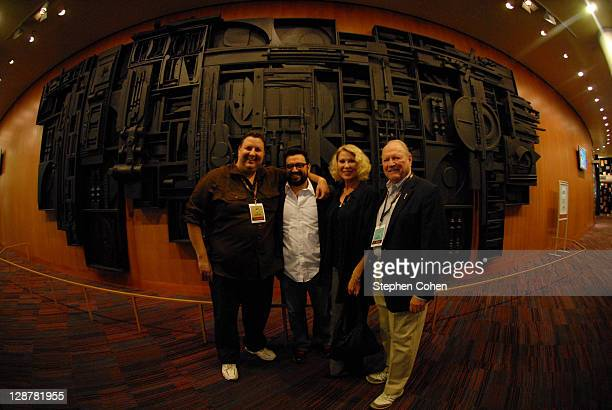 Matt Berman Horatio Sanz Leslie Easterbrook and Conrad Bachmann attend a screening of Hollywood Wine at the Bomhard Theater on October 7 2011 in...