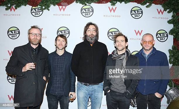 Matt Berninger Aaron Dessner Bryce Dessner Bryan Devendorf and Scott Devendorf of The National attend The ALTimate Rooftop Christmas party held at W...