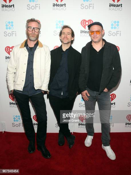 Matt Berninger Bryce Dessner and Scott Devendorf of The National attends iHeartRadio ALTer Ego 2018 at The Forum on January 19 2018 in Inglewood...