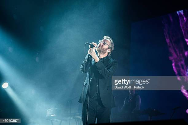 Matt Berninger from The National performs at Zenith de Paris on November 18, 2013 in Paris, France.