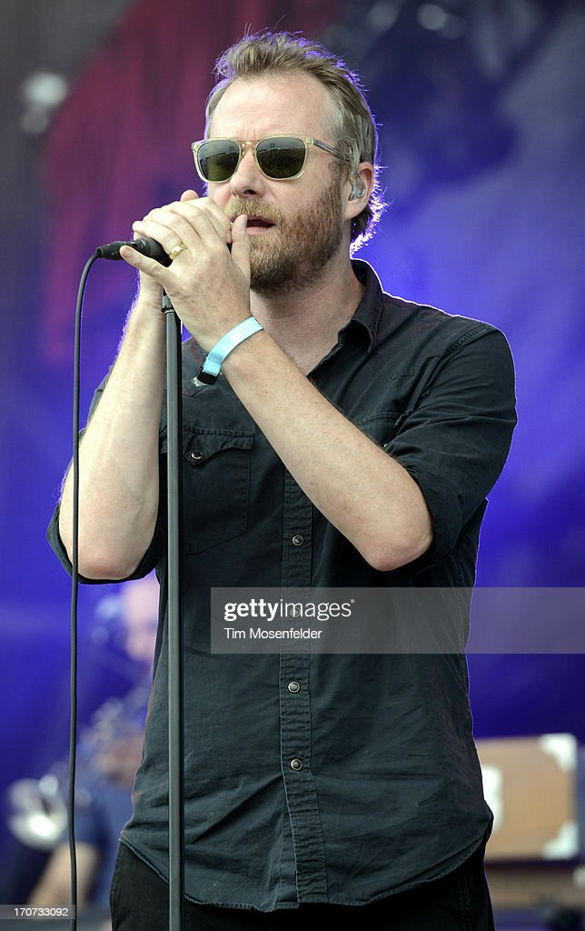Matt Berninger of The National performs as part of Day 4 of the Bonnaroo Music And Arts Festival on June 16, 2013 in Manchester, Tennessee.