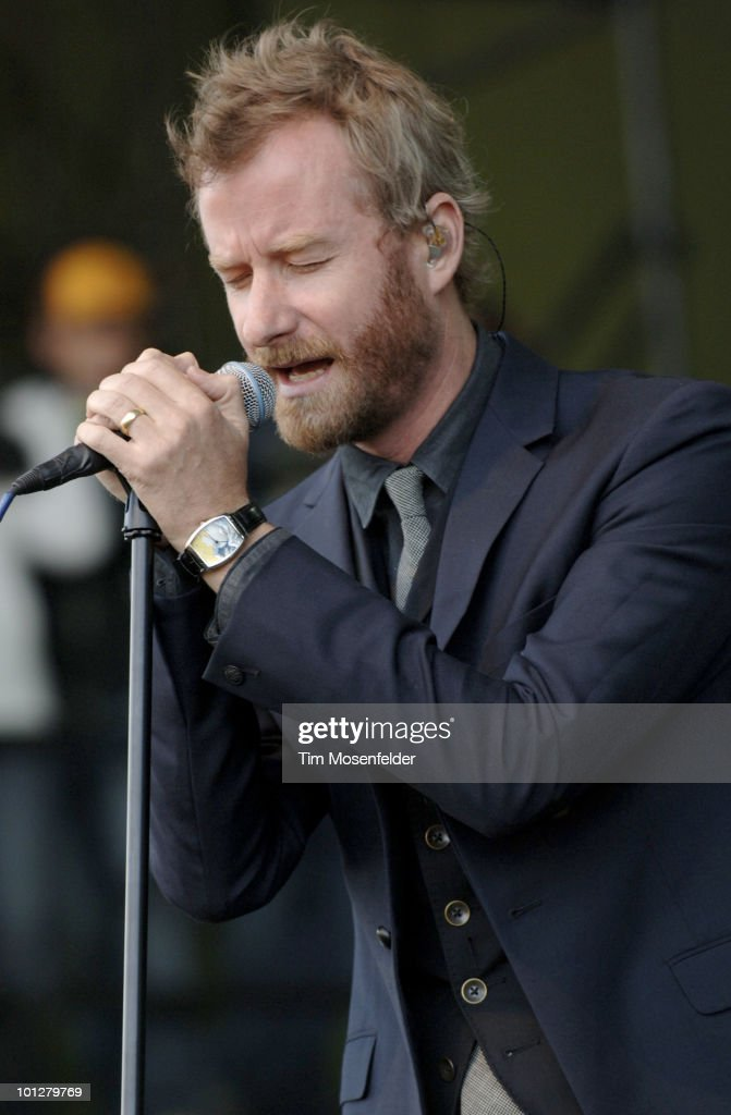 Matt Berninger of The National performs as part of the Sasquatch Music Festival at the Gorge Amphitheatre on May 29, 2010 in George, Washington.