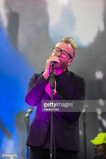 Matt Berninger of The National performs at Energia Park on June 15, 2018 in Dublin, Ireland.