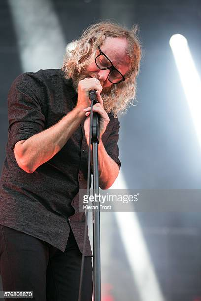 Matt Berninger of The National performs at Longitude Festival at Marlay Park on July 17 2016 in Dublin Ireland