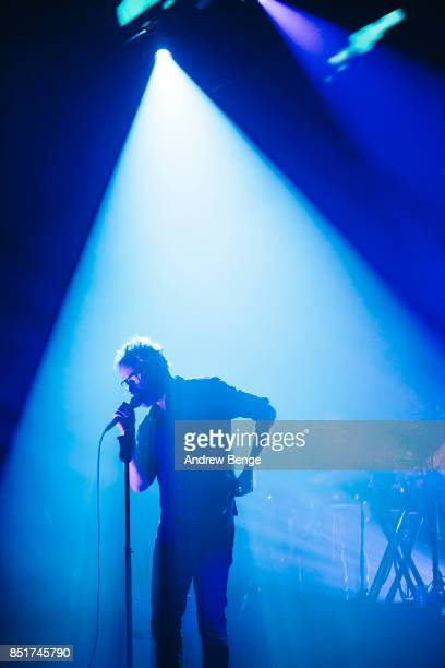 Matt Berninger of The National performs at O2 Apollo Manchester on September 22, 2017 in Manchester, England.