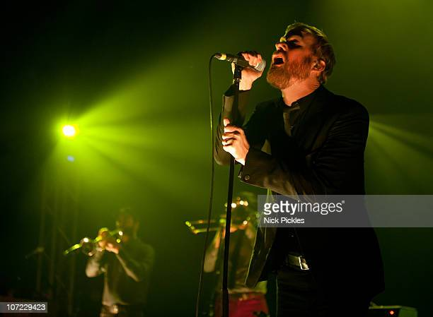 Matt Berninger of The National performs at the O2 Academy Brixton on November 30, 2010 in London, England.