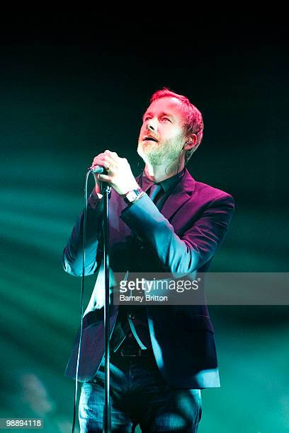 Matt Berninger of The National performs at the Royal Albert Hall on May 6 2010 in London England