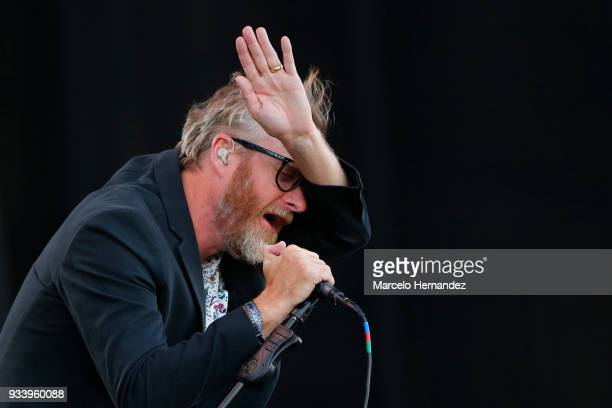 Matt Berninger of The National performs during the first day of Lollapalooza Chile 2018 at Parque O'Higgins on March 16 2018 in Santiago Chile