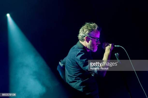 Matt Berninger of The National performs live on stage at Usher Hall on September 20 2017 in Edinburgh Scotland