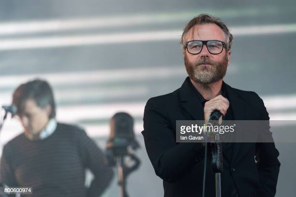 Matt Berninger of The National performs on day 3 of the Glastonbury Festival 2017 at Worthy Farm Pilton on June 24 2017 in Glastonbury England