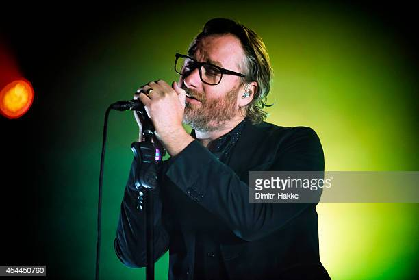 Matt Berninger of The National performs on stage at Lowlands Festival at Evenemententerrein Walibi World on August 16 2014 in Biddinghuizen...