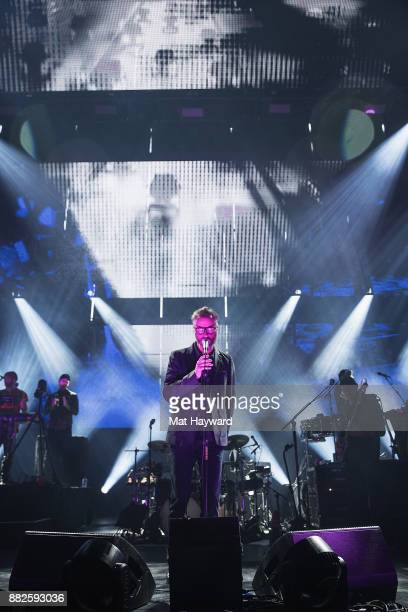Matt Berninger of The National performs on stage at Paramount Theatre on November 29 2017 in Seattle Washington
