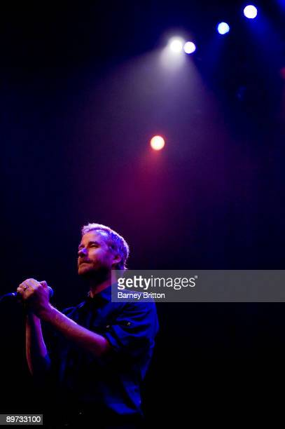 Matt Berninger of The National performs on stage at the Royal Festival Hall on August 10, 2009 in London, England.