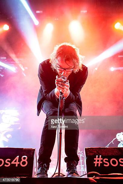 Matt Berninger of The National performs on stage on the 2nd day of SOS48 on May 2 2015 in Murcia Spain