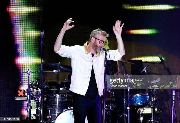 Matt Berninger of The National performs onstage during iHeartRadio ALTer Ego 2018 at The Forum on January 19 2018 in Inglewood United States