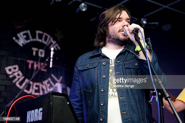 Matt Berry performs on stage at Brudenell Social Club on May 16 2013 in Leeds England