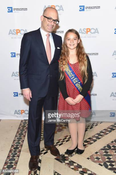 Matt Bershadker and Jessica Brocksom attend The ASPCA 2017 Humane Awards Luncheon at Cipriani 42nd Street on November 16 2017 in New York City