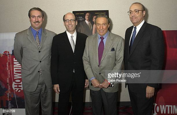 Matt Blank Chairman and CEO of Showtime Mike Wallace of 60 Minutes and CoProducers Adam Clayton Powell IV and Adam Clayton Powell III at the premiere...