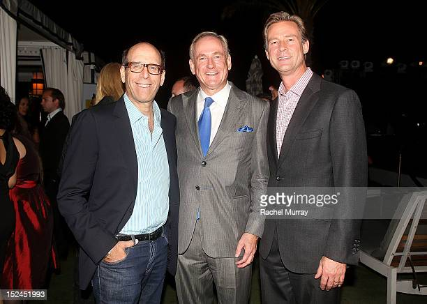 Matt Blank Chairman and CEO of Showtime Stephen Maguire sn VP Merrill Lynch and Chandler Root Merrill Lynch Regional Managing Director attend the Los...