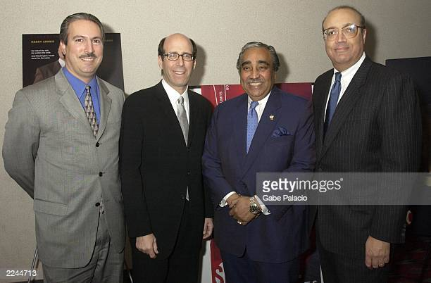 Matt Blank Chairman and CEO of Showtime US Congressman Charles Rangle and CoProducers Adam Clayton Powell IV and Adam Clayton Powell III at the...