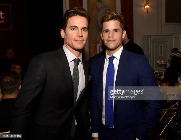 Matt Bomer and Charlie Carver attend the GLSEN Respect Awards at the Beverly Wilshire Four Seasons Hotel on October 19 2018 in Beverly Hills...