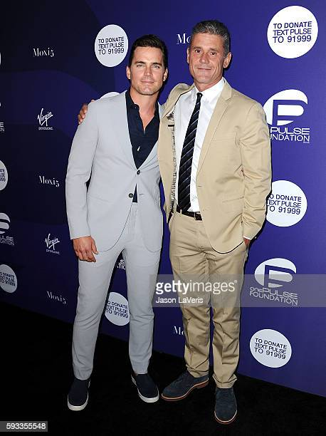 Matt Bomer and Simon Halls attend a benefit for onePULSE Foundation at NeueHouse Hollywood on August 19 2016 in Los Angeles California