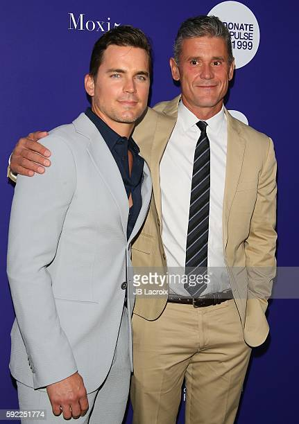 Matt Bomer and Simon Halls attend the Benefit For onePULSE Foundation on August 19 2016 in Los Angeles California