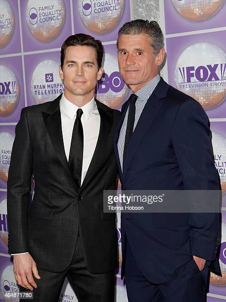 Matt Bomer and Simon Halls attend the Family Equality Council's Los Angeles awards dinner at The Beverly Hilton Hotel on February 28 2015 in Beverly...