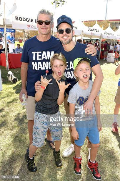 Matt Bomer and Simon Halls attend the Nanci Ryder's Team Nanci participates in the 15th Annual LA County Walk to Defeat ALS at Exposition Park on...