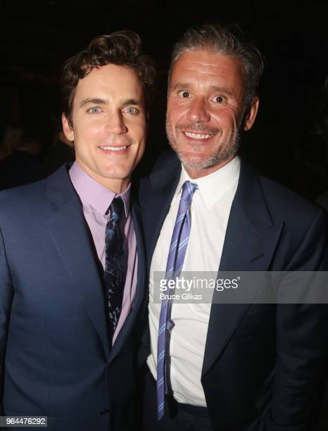 Matt Bomer and Simon Halls pose at the opening night 50th year celebration after party for the classic play revival of The Boys In The Band on...