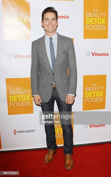 Matt Bomer arrives at the celebrity nutritonist Kimberly Snyder hosts book launch party for 'The Beauty Detox Foods' held at Smashbox West Hollywood...