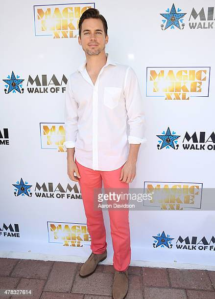 Matt Bomer attends as the 'Magic Mike XXL' cast are honored with stars on The Official Miami Walk Of Fame at Bayside Marketplace on June 24 2015 in...