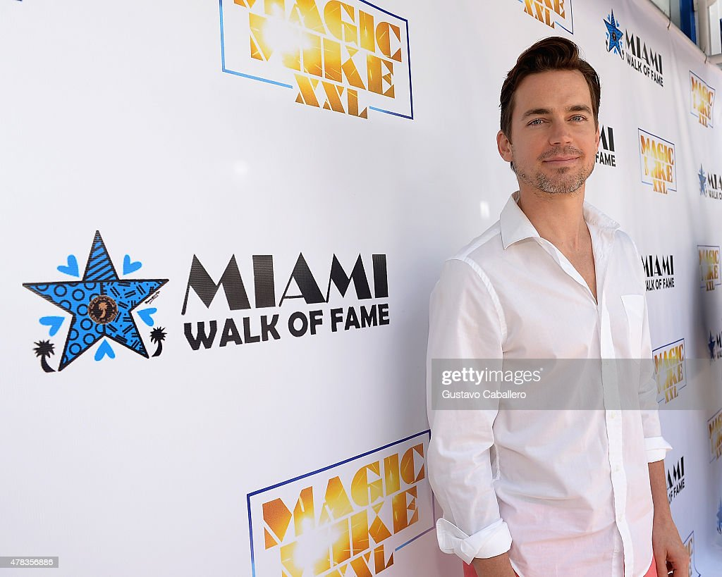Matt Bomer attends Magic Mike XXL cast honored with stars on The Official Miami Walk Of Fame at Bayside Marketplace on June 24, 2015 in Miami, Florida.